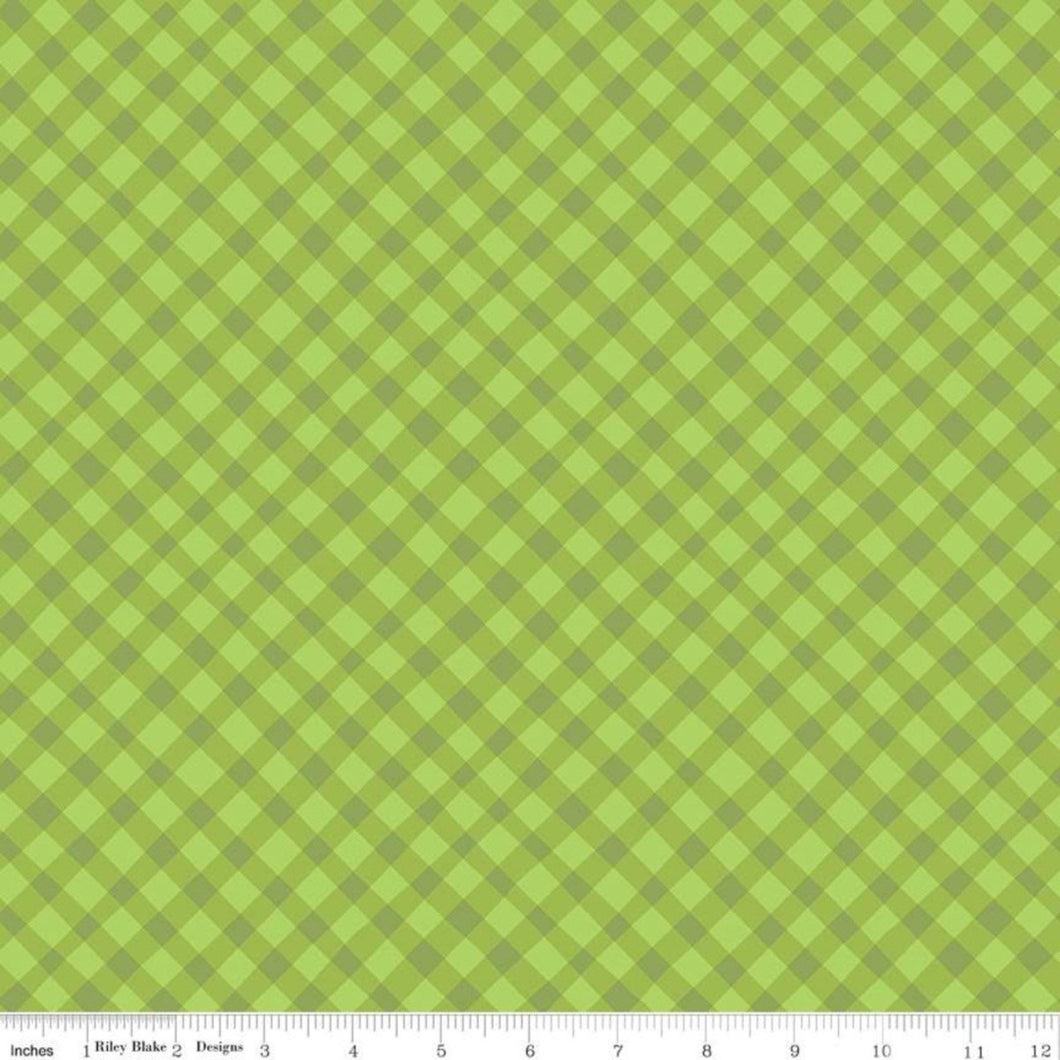 Riley Blake Shades of Summer Plaid Green