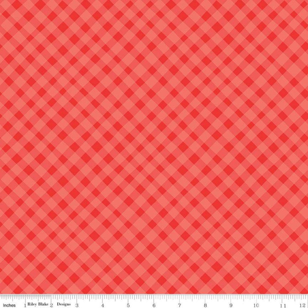 Riley Blake Shades of Summer Plaid Red