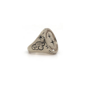 Moondust Signet Ring