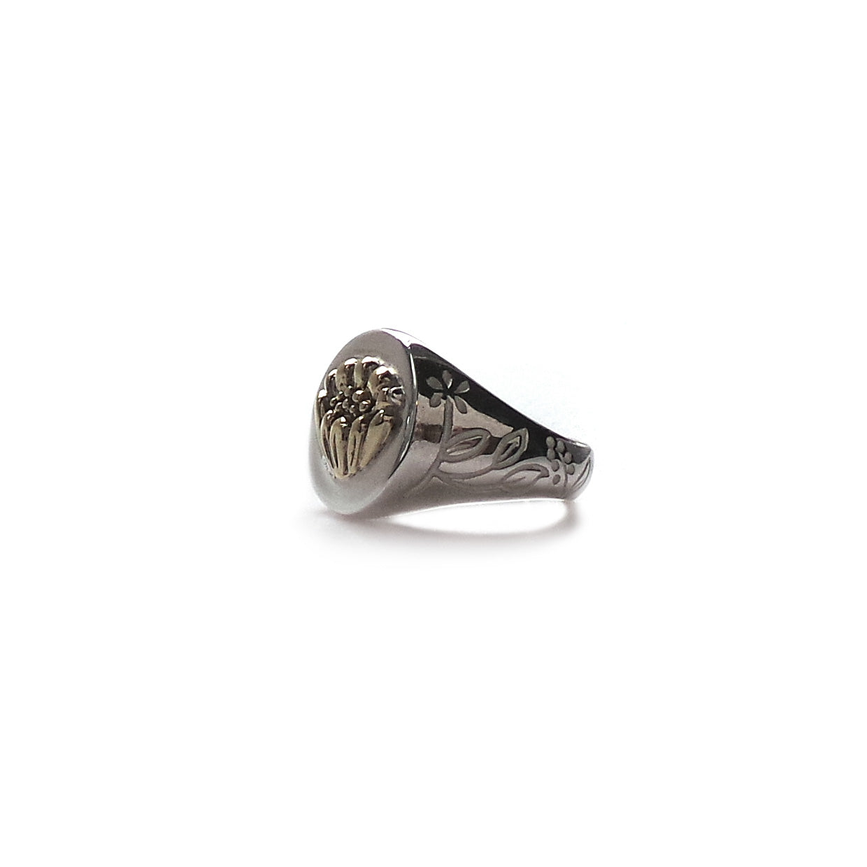 Hunt Of Hounds Adonis Flower Signet Ring