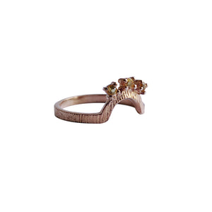 Crescent Trio Ring with Citrine - Limited Edition