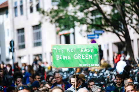 it's not easy being green, protest