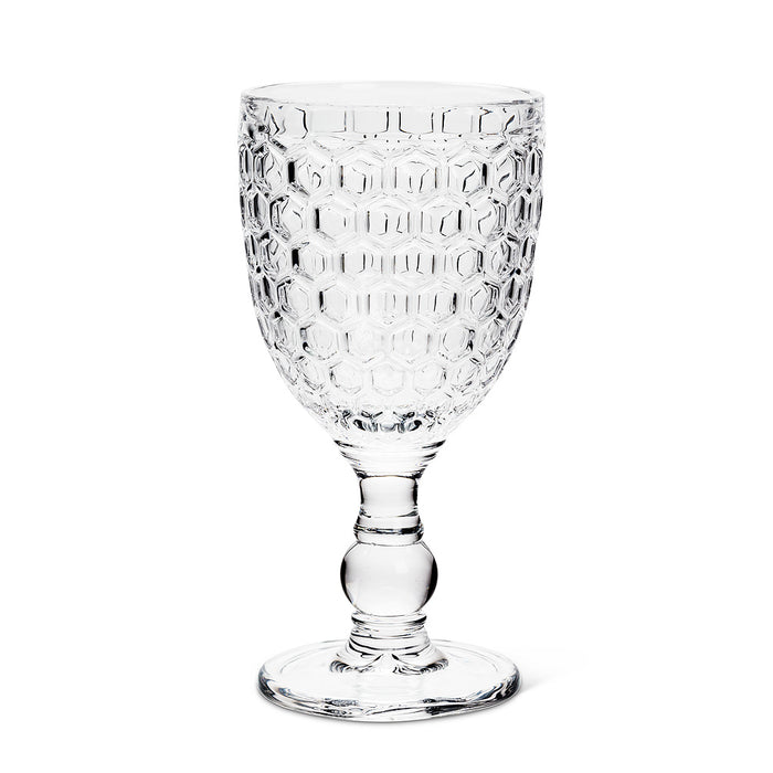 Glass - Honeycomb Goblet