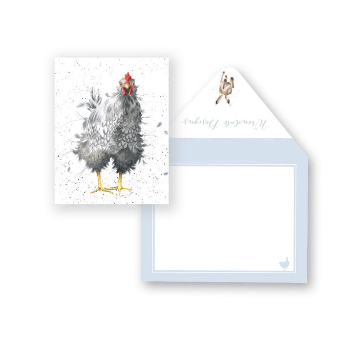 Card - Curious Hen