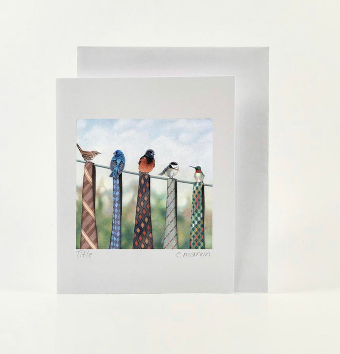 Card Watercolour - Clothespins