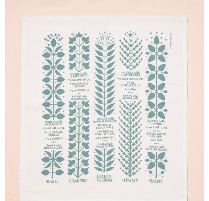 Tea Towel - Herbs & Flowers