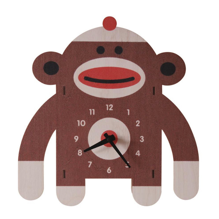 Clock - Sock Monkey