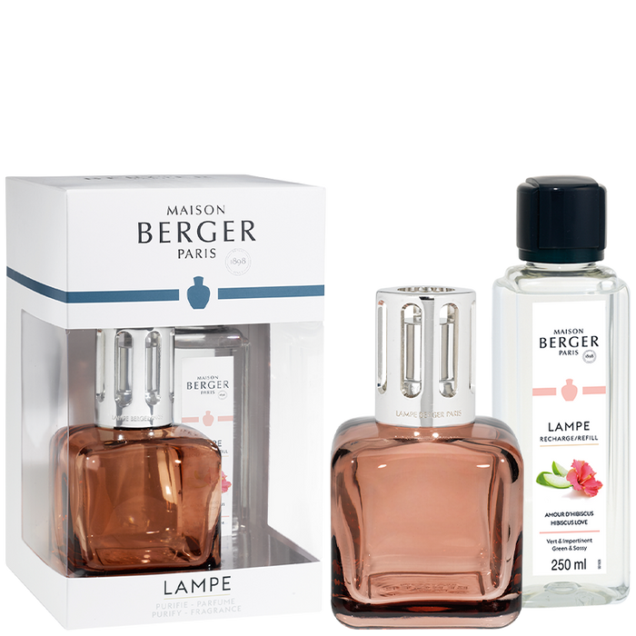 Maison Berger - Ice Cube Amber Rose Lampe Gift Set