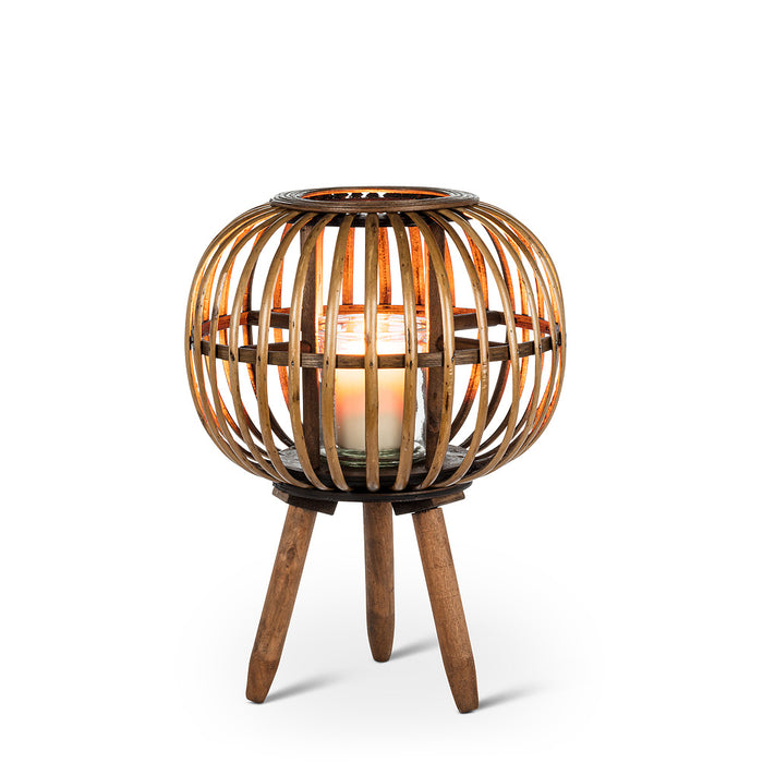 Lantern - Small Rattan With Legs