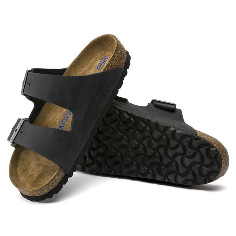 Birkenstock - Arizona Black Oiled Leather Soft FB 0752481