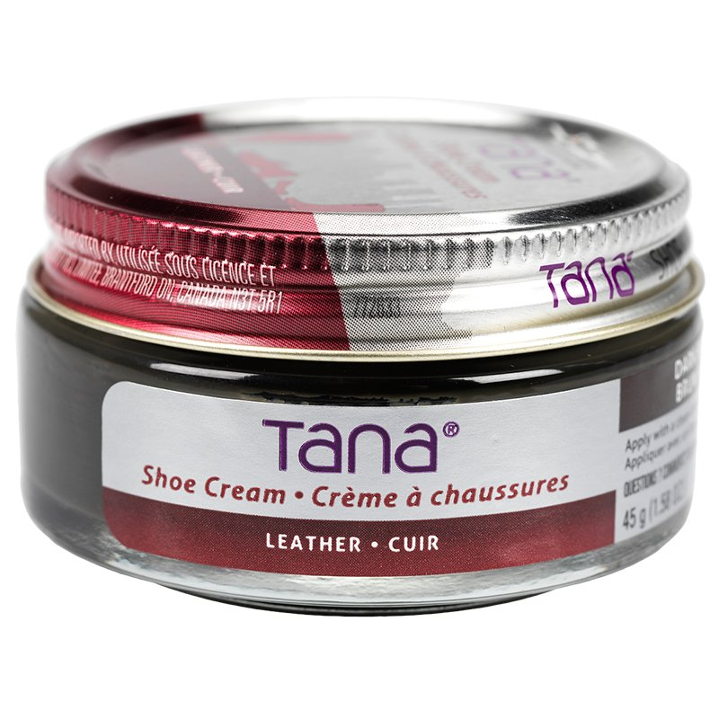 Tana - Leather Shoe Cream Black