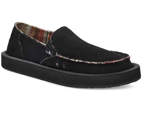 Sanuk - Donna Soft Top Hemp Black