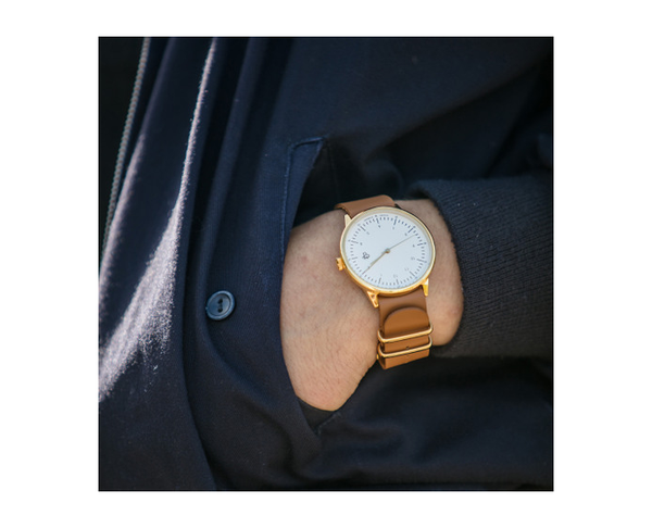 CHPO - Harold Gold / White dial Watch