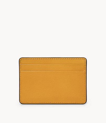 Fossil - Benedict Card Case Mustard Gold