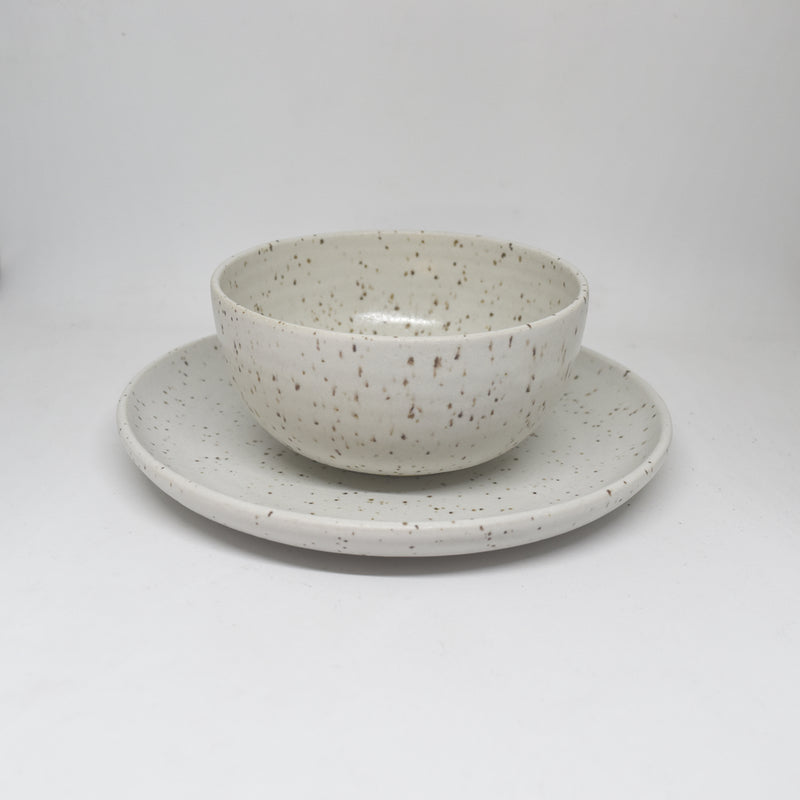 Speckled White Dessert Bowl