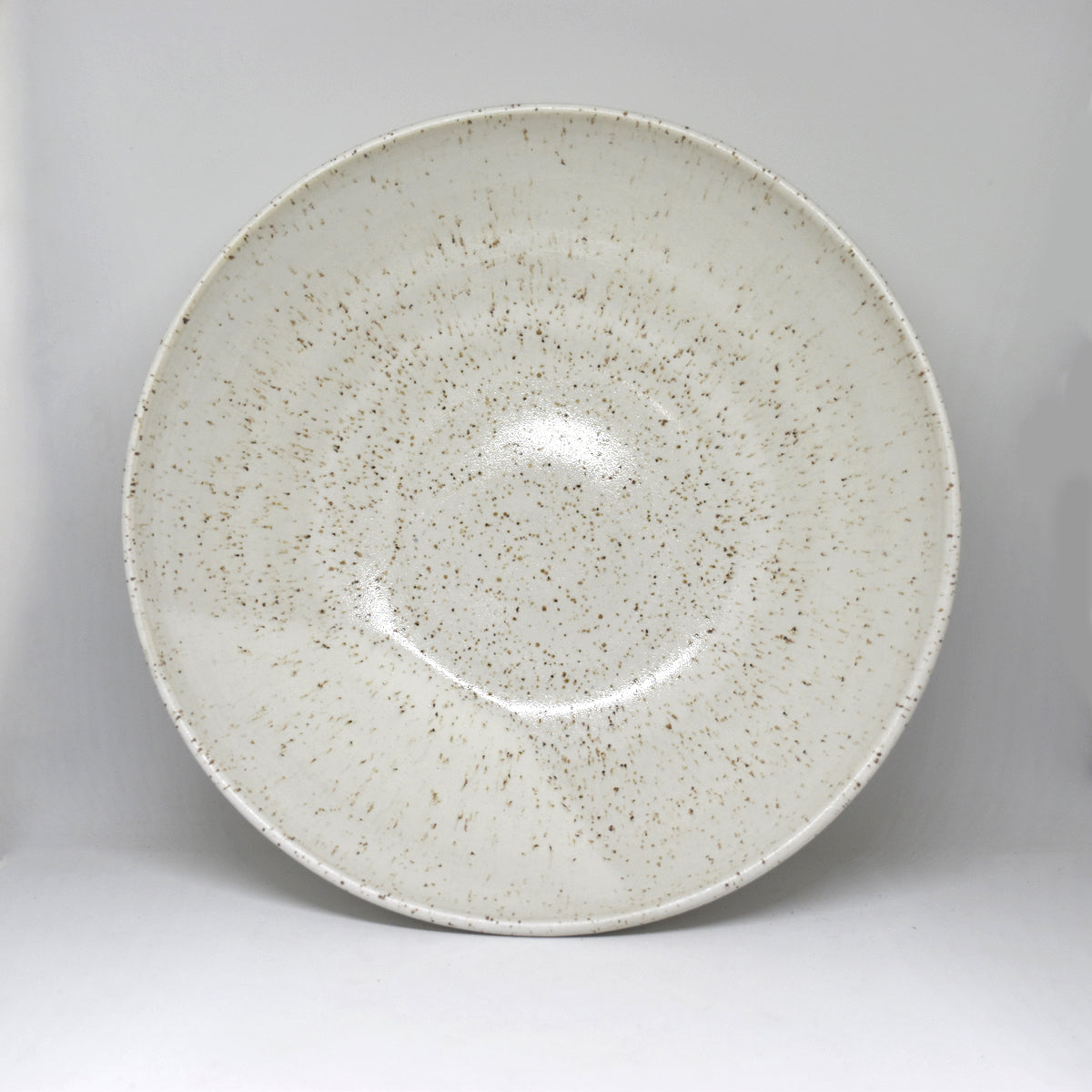 Speckled White Service Bowl