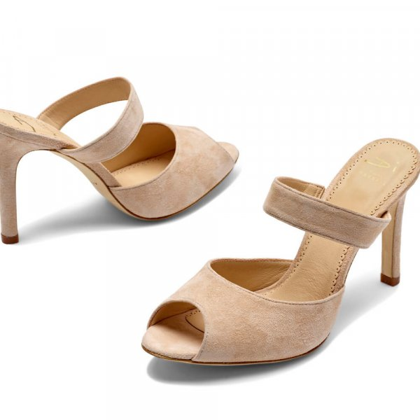 Jessica. A comfortable and elegant suede wedding mule.