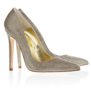 Charlotte Gold. A luxurious gold court shoe.