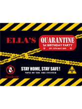 Load image into Gallery viewer, Happy Quarantine Birthday Banner - Black