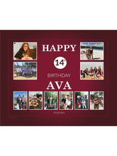 Load image into Gallery viewer, BURGANDY Birthday Banners