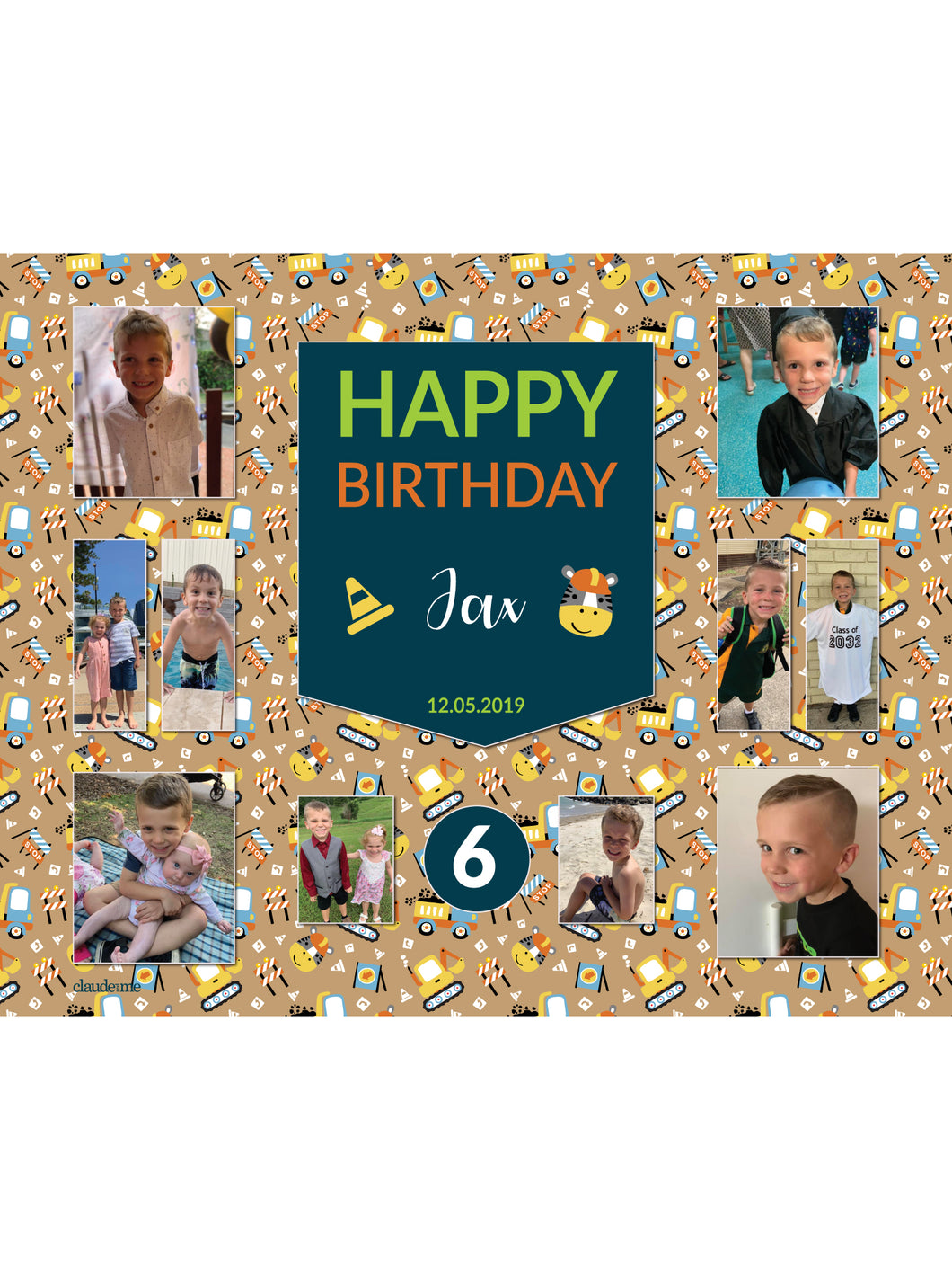 Little Digger Birthday Banners