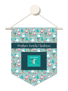 Cute Reindeer Personalised Advent Calendar Hanger