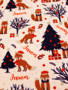 Festive Fox Reusable Gift Wrap