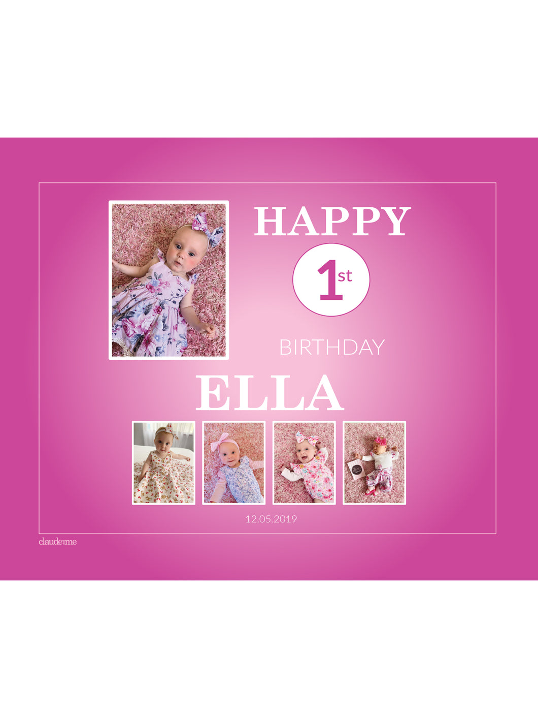 HOT PINK Birthday Banners