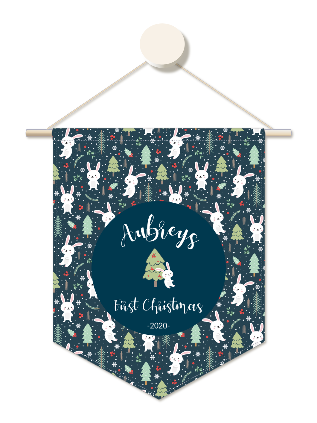 Hoppy Christmas Personalised 1st Christmas Hanger