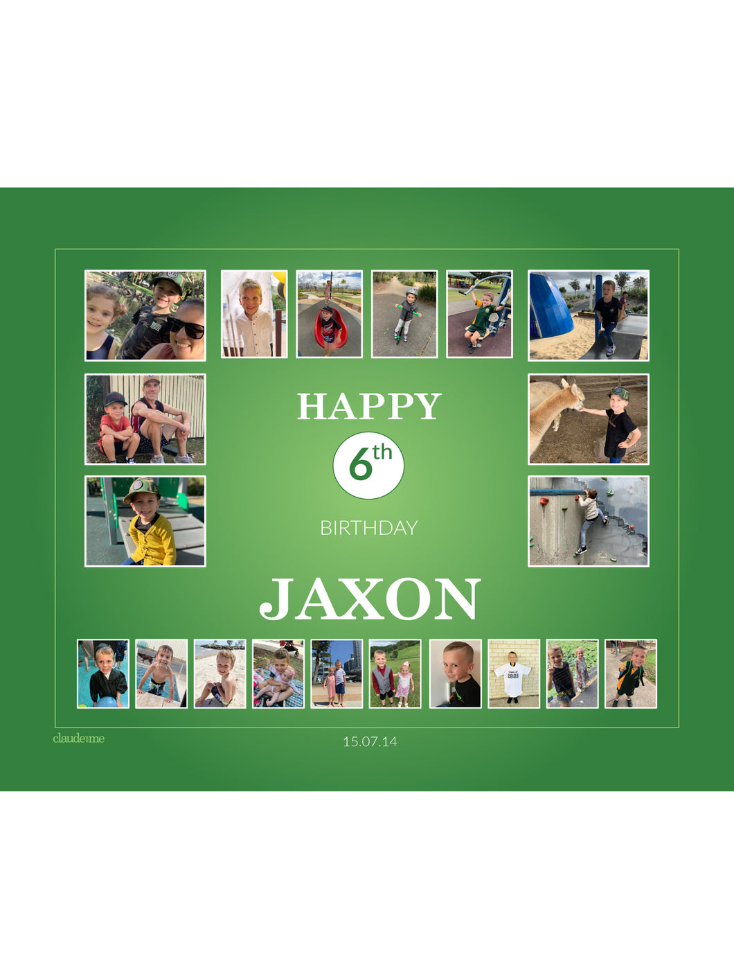 GREEN Birthday Banners