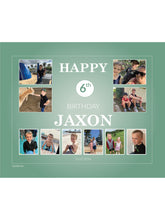 Load image into Gallery viewer, TEAL Birthday Banners