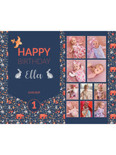 Load image into Gallery viewer, Woodland Rabbit Birthday Banners