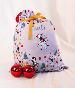 Party Zebra Santa Sack