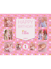 Load image into Gallery viewer, Princess Birthday Banners