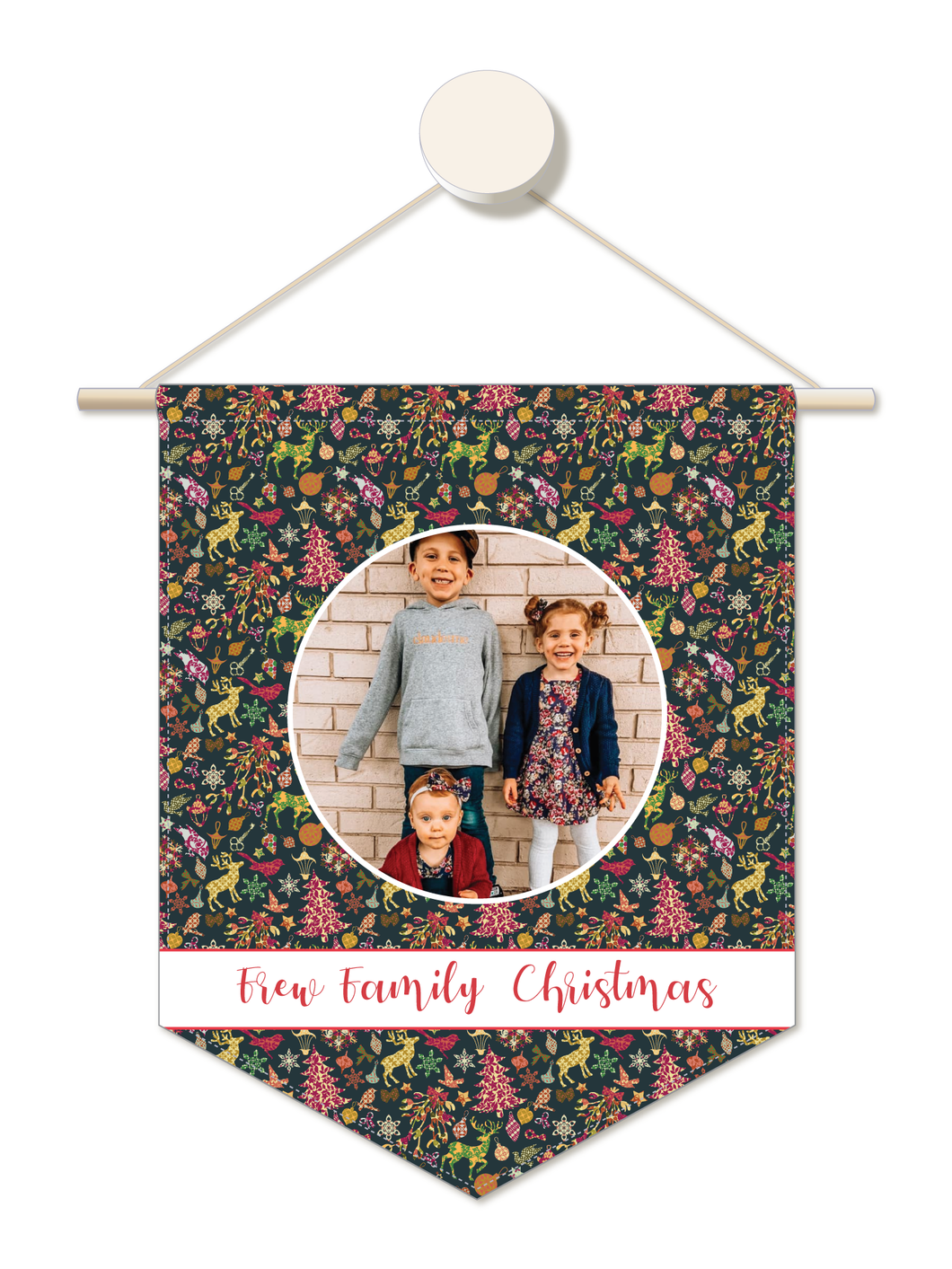 Wall to Wall Christmas Personalised Family Christmas Hanger