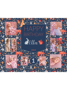 Woodland Rabbit Birthday Banners