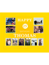 Load image into Gallery viewer, YELLOW Birthday Banners