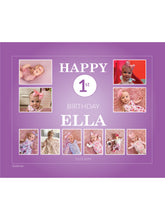 Load image into Gallery viewer, PURPLE Birthday Banners