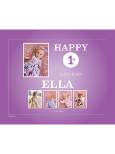PURPLE Birthday Banners