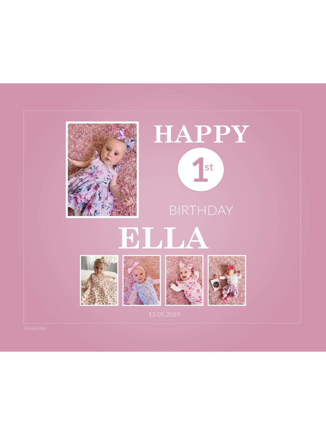 ROSE PINK Birthday Banners