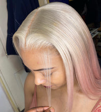 Load image into Gallery viewer, Pink Ombré blonde bob