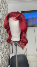 Load and play video in Gallery viewer, Red closure wig unit