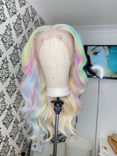 Load image into Gallery viewer, Rainbow highlights blonde wig