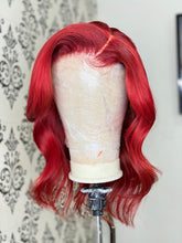 Load image into Gallery viewer, Red closure wig unit