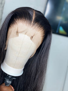 Natural black straight wig
