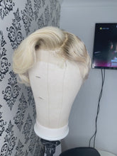 Load and play video in Gallery viewer, Blonde pixie cut closure wig