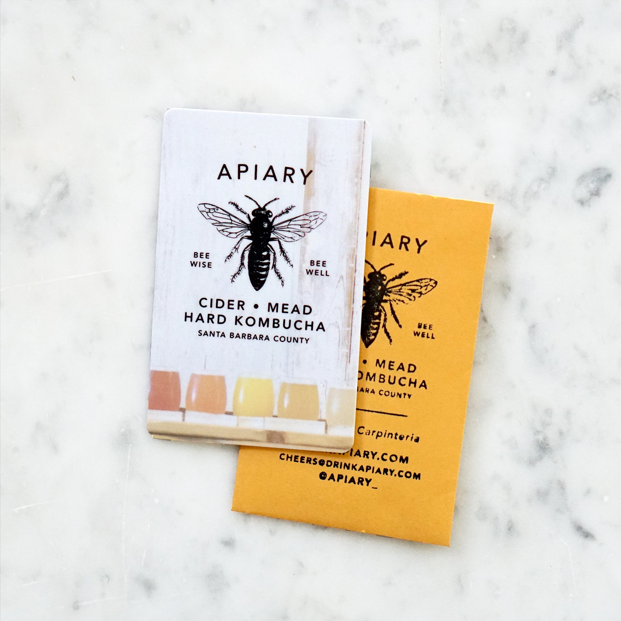 Photo of Apiary gift card and envelope