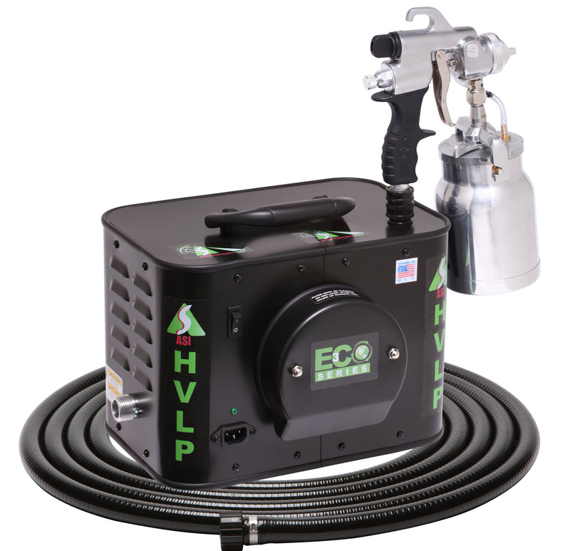 Apollo Eco-3 Three-Stage HVLP Turbine with E7000 Non-Bleeder Spray Gun & Quart Pressure Pot
