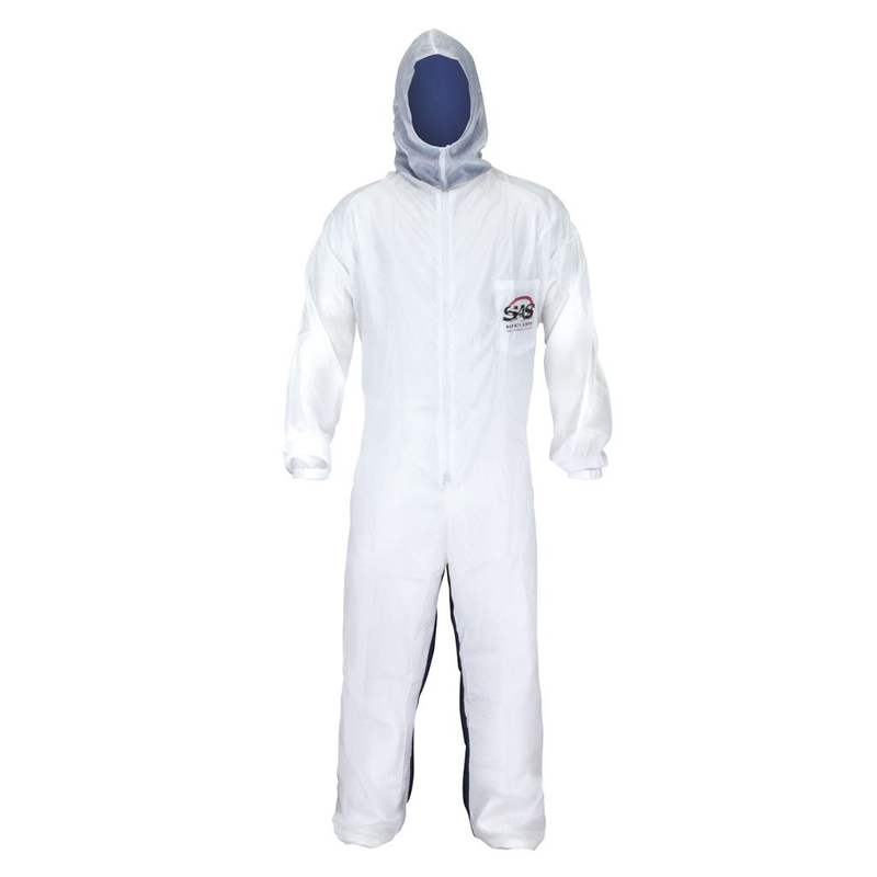 SAS Safety Moonsuit Nylon Front/Cotton Back Coverall Sizes M - 3XL