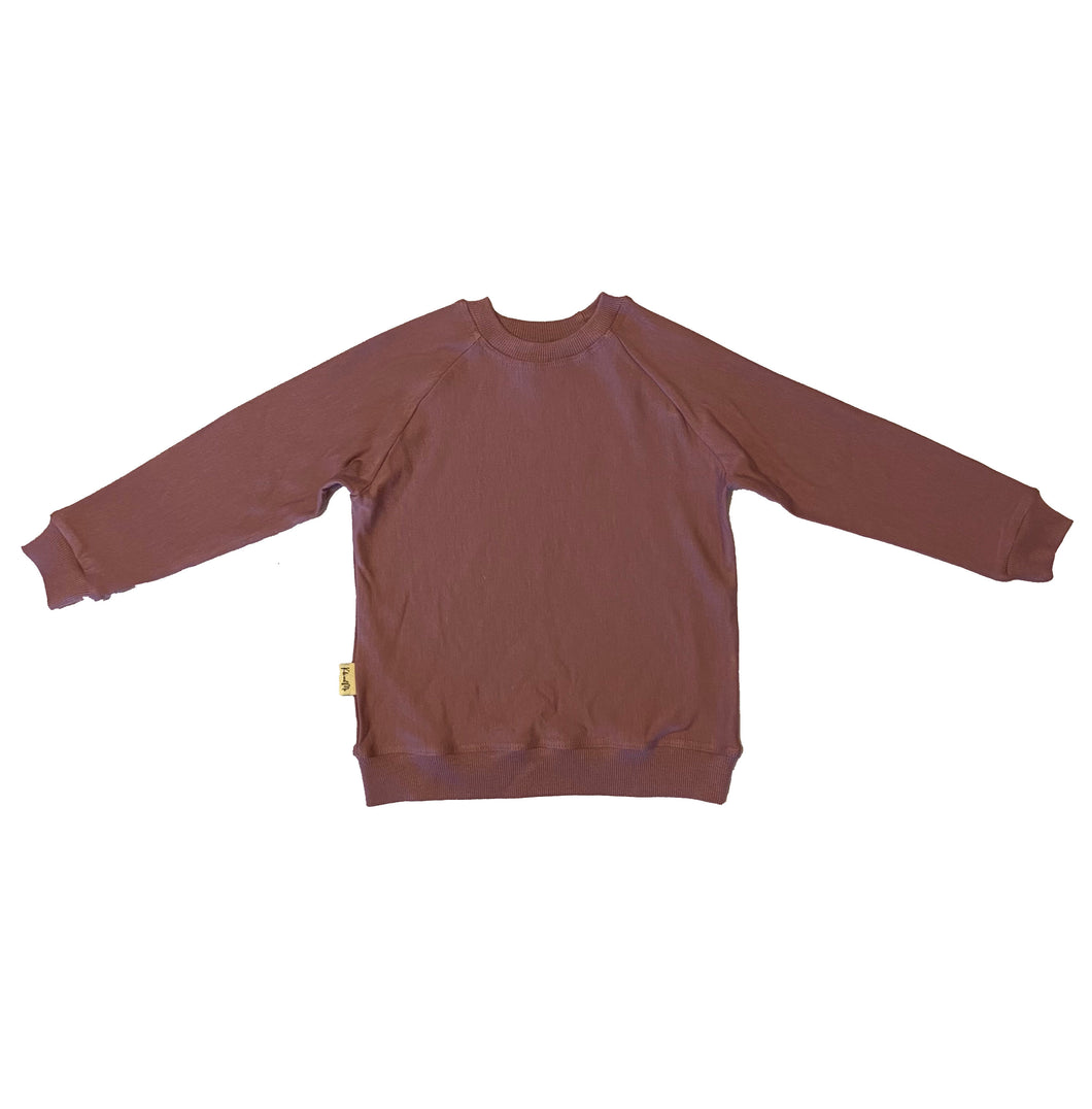 Kid's Crewneck Sweatshirt - Rose (0-6 to 13/14)